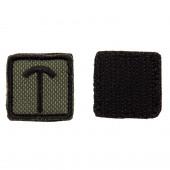 Шеврон KE Tactical Славянская руна Треба квадрат 2,5 см олива/черный