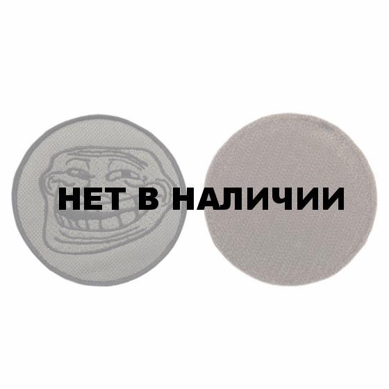 Шеврон KE Tactical Троллфейс круглый 8 см олива/черный