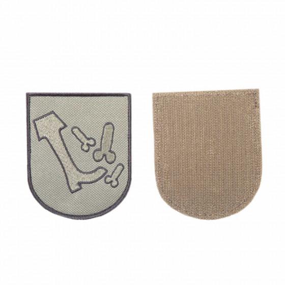 Шеврон KE Tactical Жизненная позиция 7х8,5 см олива/черный