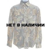 Рубашка ХСН летняя «Таежный стиль», длинный рукав, (сетка-дубок)