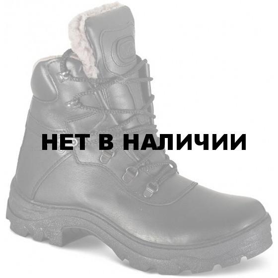 Ботинки ХСН Альпы натуральный мех черные
