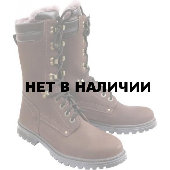 Сапоги ХСН Пойнтер натуральный мех коричневые