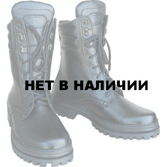 Ботинки ХСН Охрана элита натуральный мех черные