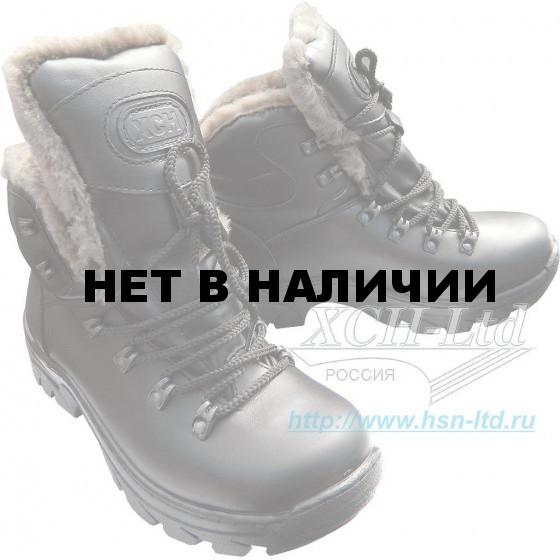 Ботинки ХСН Трекинг Люкс натуральный мех черные