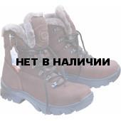 Ботинки ХСН Трэвел-VIP натуральный мех коричневые