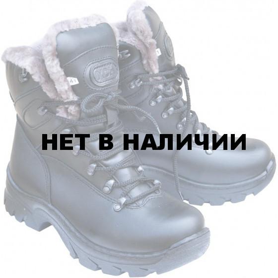 Ботинки ХСН Трэвел-Люкс натуральный мех черные