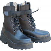 Ботинки ХСН Лось с чулком из войлока черные