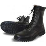 Ботинки ХСН Ратник натуральный мех на молнии черные