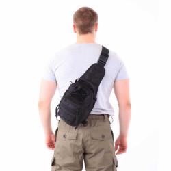 Сумка KE Tactical на плечо 1-Day Mission 5 литров Polyamide 500 Den черная