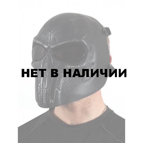 Маска VoenPro тактическая Каратель черная