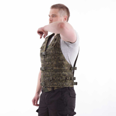 Жилет-основа KE Скорпион с расширенной спиной на MOLLE с застежкой на молнию и фастекс ЕМР