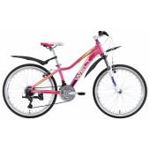 Велосипед Welt 2018 Edelweiss 24 matt pink/violet/white