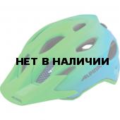 Велошлем Alpina 2018 Carapax Jr. Flash green-blue