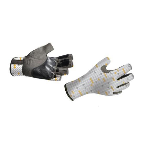 Перчатки рыболовные BUFF Pro Series Angler Gloves белая чешуя
