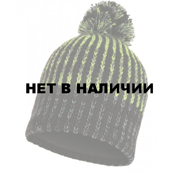 Шапка BUFF KNITTED & POLAR HAT IVER BLACK