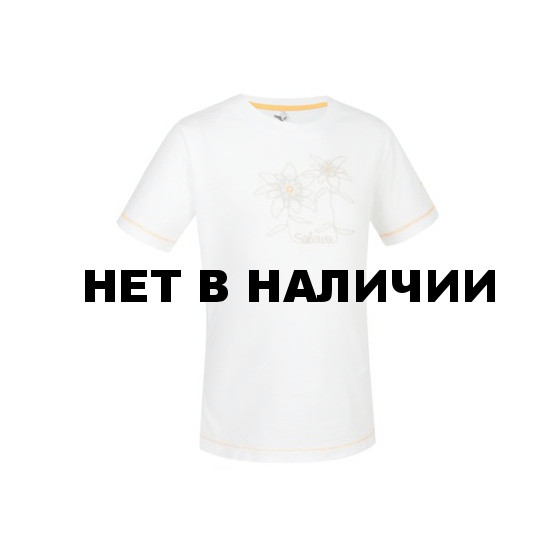 Футболка для активного отдыха Salewa Kids WOODS CO G S/S TEE white