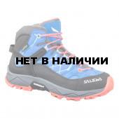 Ботинки для хайкинга (высокие) Salewa 2018 JR ALP TRAINER MID GTX Royal Blue/Hot Coral