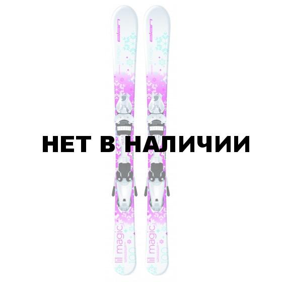Горные лыжи с креплениями Elan 2015-16 LIL MAGIC QT EL 4.5 (70-100)