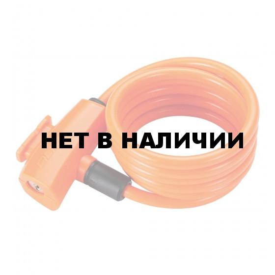 Замок велосипедный BBB QuickSafe 8mm x 1500mm ключевой оранжевый (BBL-61)