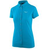 Рубашка с коротким рукавом туристическая Salewa 2018 PUEZ MINICHECK DRY W S/S SRT hawaiian blue