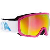 Очки горнолыжные Alpina SCARABEO JR. MM white/blue/pink/print (periwinkle storm) (б/р:ONE SIZE)