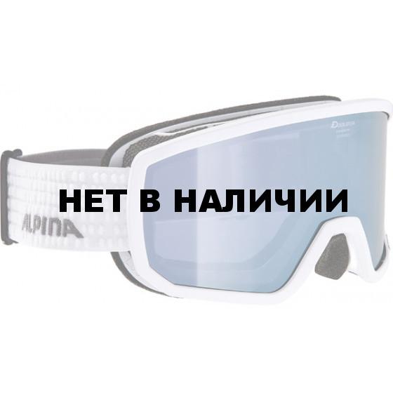 Очки горнолыжные Alpina SCARABEO HM white/grey (white dots) (б/р:ONE SIZE)
