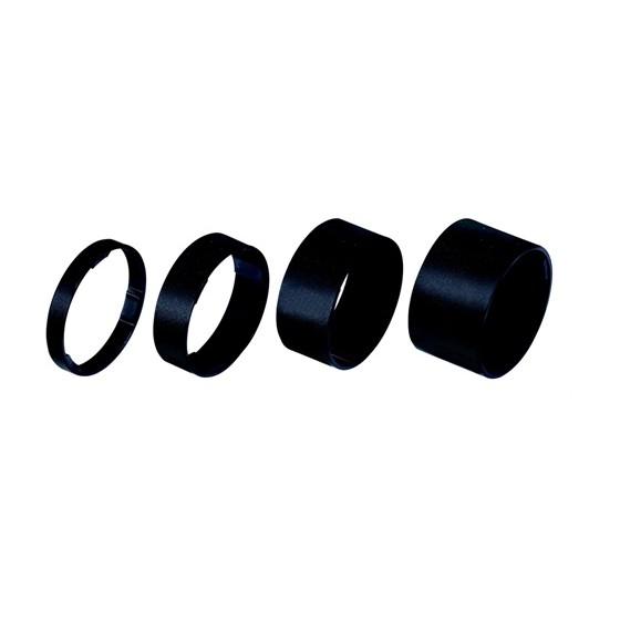 """Проставочные кольца BBB LightSpace 1-1/8"""" 5/10/15/20mm alloy black (BHP-36)"""
