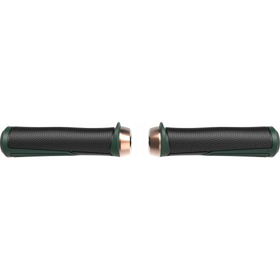Грипсы BBB Cobra 142mm / moss green / lockring copper зелёный