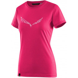Футболка для активного отдыха Salewa 2018 SOLID DRI-REL W S/S TEE rose red melange