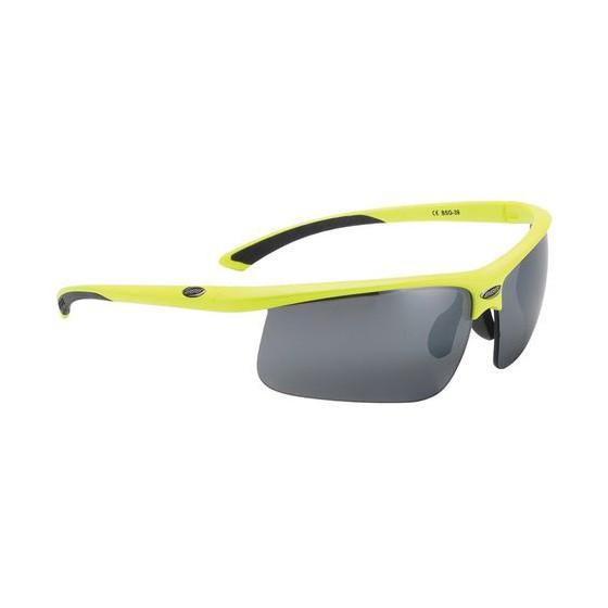 Очки солнцезащитные BBB Winner PC Smoke flash mirror lens black tips neon yellow (BSG-39_3912)