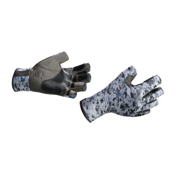 Перчатки рыболовные BUFF Pro Series Angler Gloves Fish Camo (серо-белый камуфляж)