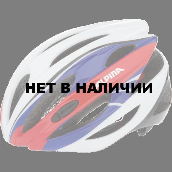 Летний шлем ALPINA 2017 Cybric white-blue-red