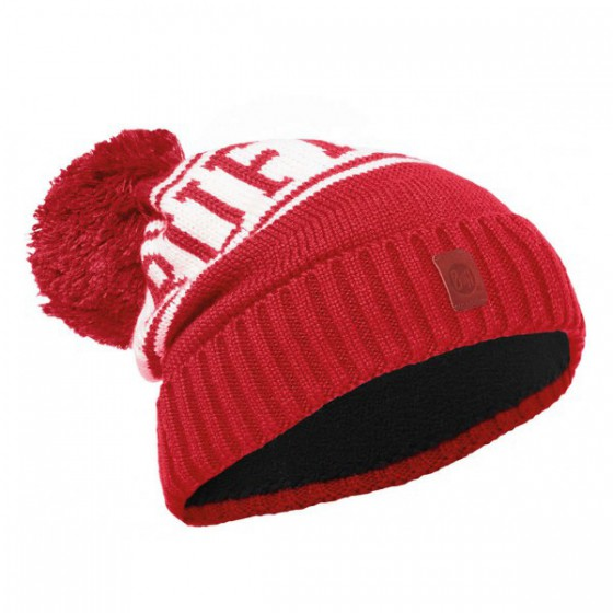 Шапка BUFF 2016-17 JUNIOR KNITTED & POLAR HAT BUFF® SHIKO RED-RED-Standard