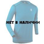 Футболка с длинным рукавомом Bjorn Daehlie 2017-18 Shirt TrainingWool Mykonos Blue (US:M)