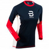 Футболка с длинным рукавом беговая Bjorn Daehlie 2017-18 Long Sleeve Tech Wind Wmn High Risk Red