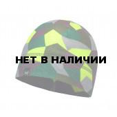 Шапка BUFF POLAR HAT JR & CHILD BLOCK SKULL KHAKI (US:one size)