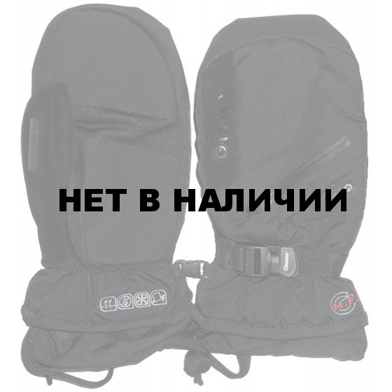 Варежки GLANCE Fighter mitten black/black (черный/черный)