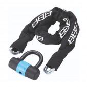 Замок велосипедный BBB Power10mmx10mmx1000m + 100x110mm U lock ключевой (BBL-26)
