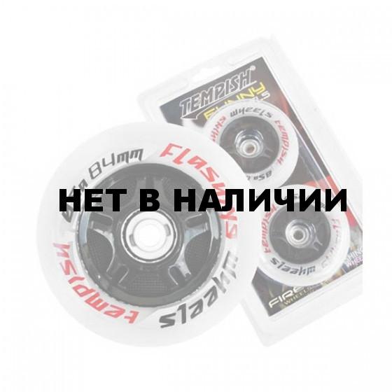 Комплект колёс для роликов TEMPISH FUNNY FLASHING wheels 85A 80x24 mm (1*2pcs) Белый