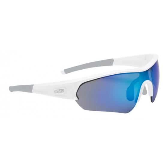 Очки солнцезащитные BBB Select glossy white PC Smoke blue MLC lens синий