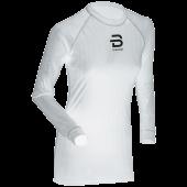 Футболка с длинным рукавом беговая Bjorn Daehlie 2017-18 Shirt Compete LS Wmn Snow White (US:M)