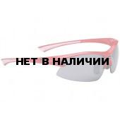 Очки солнцезащитные BBB Impulse PC Smoke flash mirror lens white tips red (BSG-38)