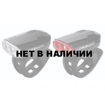 Фонарь (комплект) BBB SparkCombo rechargeable Iithium battery black (BLS-48)
