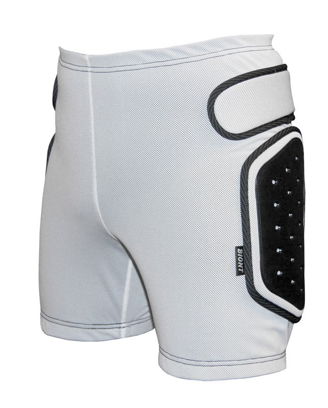 89490df75443 Защитные шорты BIONT Экстрим с открытым пластиком 8-10мм Белый ...