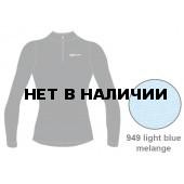 Футболка с длинным рукавом ACCAPI TECNOSOFT PLUS LONG SL.T-SHIRT 1/2 ZIP LADY (light blue mel) синий