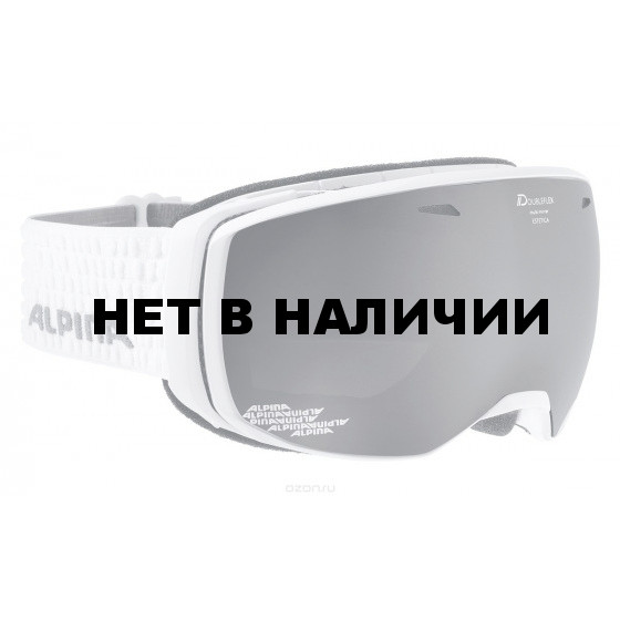 Очки горнолыжные Alpina ESTETICA QMM white/grey (white dots) (б/р:ONE SIZE)