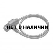 Замок велосипедный BBB QuickSafe 8mm x 1500mm ключевой черный (BBL-61)