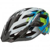Летний шлем ALPINA Panoma white-cyan-green