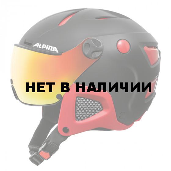 Зимний Шлем Alpina ATTELAS Visor QVM black-red matt