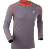 Футболка с длинным рукавом Bjorn Daehlie UNDERWEAR Shirt WARM LS Shark/Tangerine Tango (Серый/оранжевый)